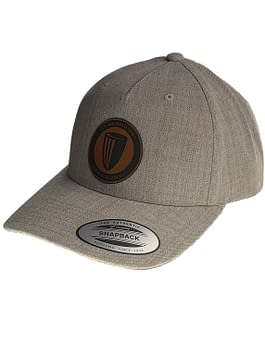 Leather Patch Curved Bill Premium Snapback
