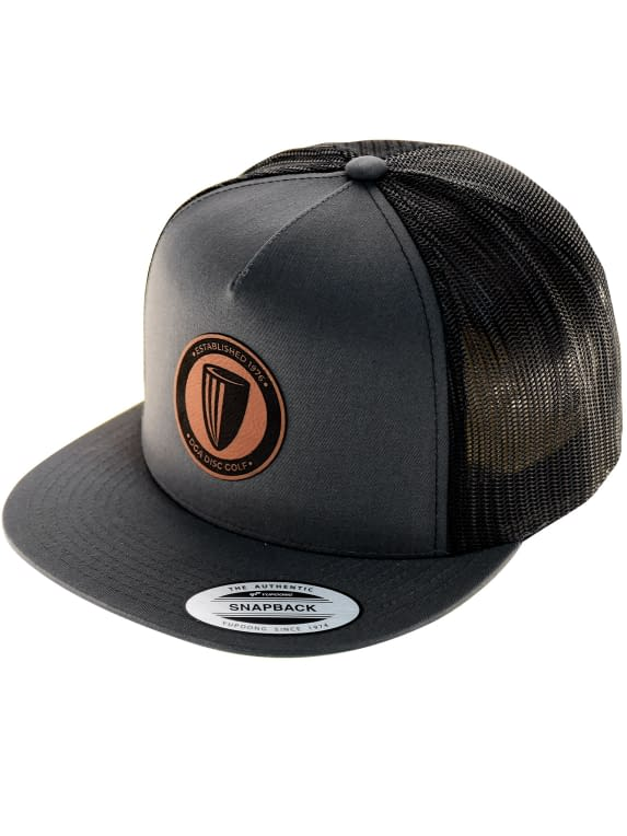 leather-patch-5-panel-flat-bill-mesh-snapback-charcoal-and-black