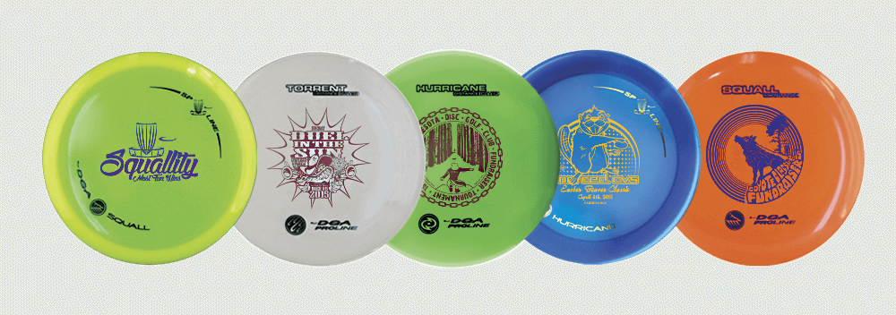 Tournament Sponsorship Custom Stamped Disc Examples