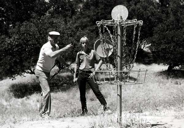 Ed Headrick Disc Golf Inventor Playing Disc Golf