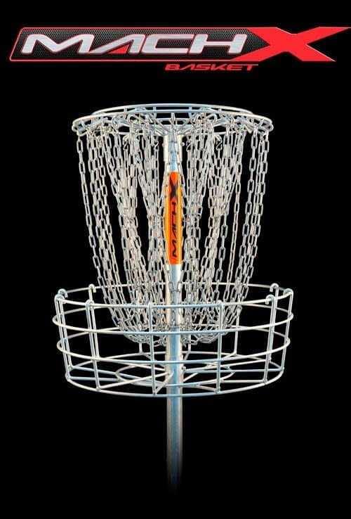 Mach X disc golf basket is the most advanced and highest quality disc golf target available.
