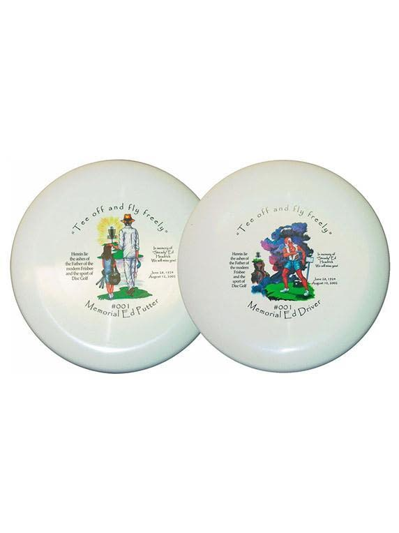 Steady Ed Headrick Memorial Ash Disc Golf Driver and Putter Set of Two Disc