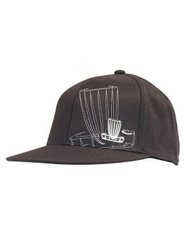Black Stealth Flexfit 210 Fitted Flatbill Cap (S/M)